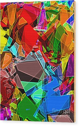 Wood Print featuring the digital art Astratto - Abstract 52 by Ze  Di