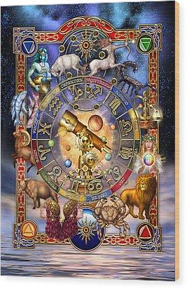 Astrology Wood Print by Ciro Marchetti
