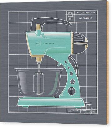 Astromix - Aqua Wood Print