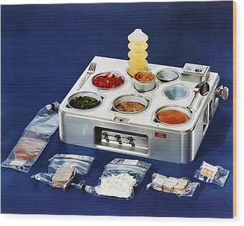Astronaut Food Wood Print
