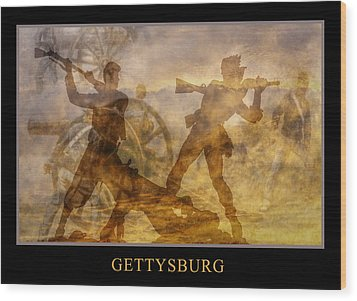 At A Place Called Gettysburg Poster Wood Print by Randy Steele