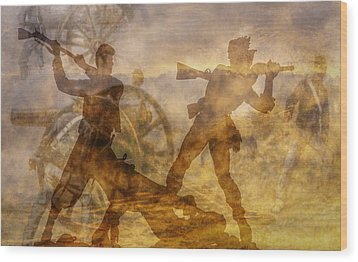 At A Place Called Gettysburg Ver Two Wood Print by Randy Steele