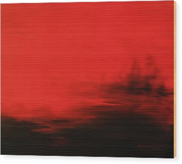 At Dusk Wood Print by Kume Bryant