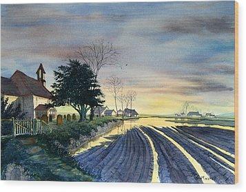 At Eventide Wood Print by Glenn Marshall