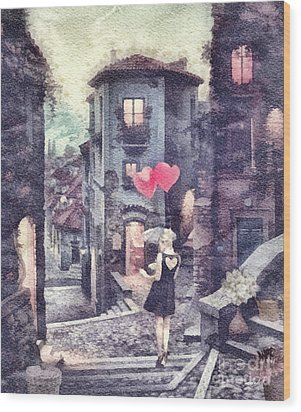 At Heart Wood Print by Mo T