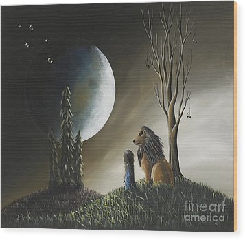 At Midnight By Shawna Erback Wood Print by Shawna Erback