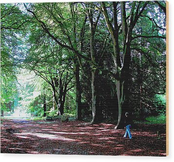 Wood Print featuring the photograph At Peace With Nature by Charlie Brock