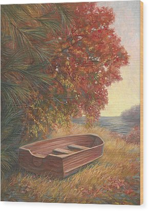 At Rest Wood Print by Lucie Bilodeau
