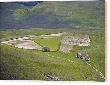Wood Print featuring the photograph Parko Nazionale Dei Monti Sibillini, Italy 7 by Dubi Roman