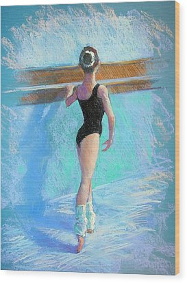 At The Barre Wood Print by Jackie Simmonds