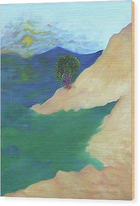 At The Beach Wood Print by Corina Bishop