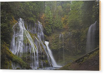 At The Bottom Of Panther Creek Falls Wood Print by David Gn