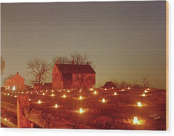 Wood Print featuring the photograph At The Cornfield 12 by Judi Quelland