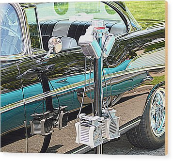 At The Drive In Wood Print by AJ  Schibig