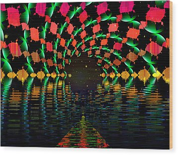 At The End Of The Tunnel Wood Print by Faye Symons
