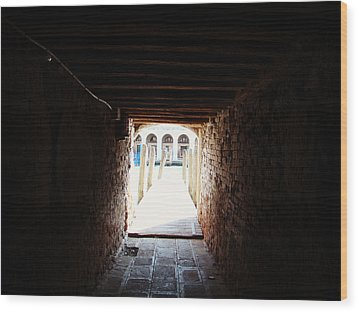 At The End Of The Tunnel Wood Print by Zinvolle Art