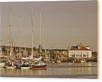 At The Harbor - Martha's Vineyard Wood Print by Kim Hojnacki