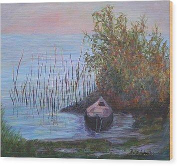 At The Lake Wood Print