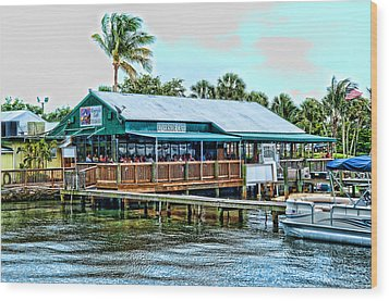 At The Riverside On Mothers Day 2112 Wood Print by Frank Feliciano