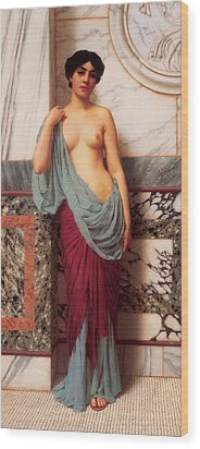 At The Thermae Wood Print by John William Godward