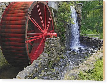 At The Wayside Inn Gristmill Wood Print by John Hoey