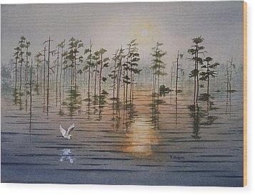 Atchafalaya Wood Print