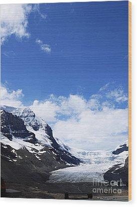 Athabascar Glacier Wood Print