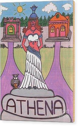 Athena Wood Print by Josie Weir