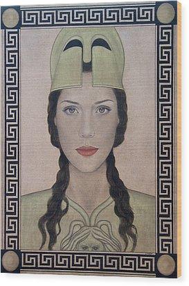 Athena Wood Print by Lynet McDonald