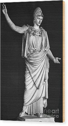Athena Or Minerva Wood Print by Granger