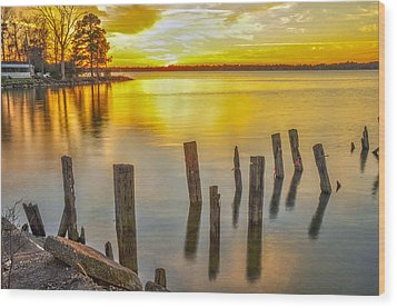 Atkins Landing Wood Print by Donnie Smith