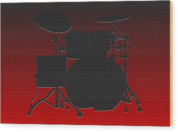 Atlanta Falcons Drum Set Wood Print by Joe Hamilton