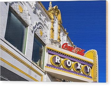 Atlanta Roxy Theatre Wood Print by Mark E Tisdale
