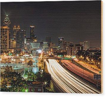 Wood Print featuring the photograph Atlanta Skyline by Anna Rumiantseva