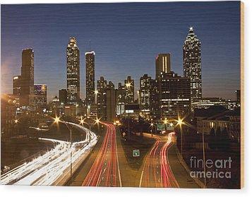Atlanta Skyline - Jackson St Bridge Wood Print