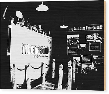 Atlanta Underground Wood Print by Cleaster Cotton