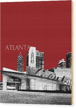 Atlanta World Of Coke Museum - Dark Red Wood Print by DB Artist