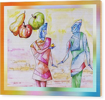 Atlantian  Friendship Wood Print by Hartmut Jager