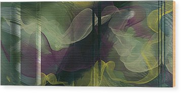 Atlantian Scarves Wood Print by Constance Krejci