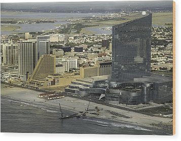 Atlantic City Casinos Wood Print