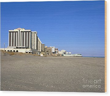 Atlantic City New Jersey Wood Print by Olivier Le Queinec