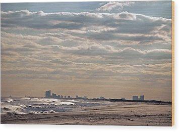 Atlantic City Skyline II Wood Print by Elsa Marie Santoro