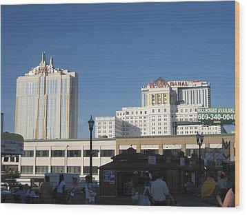 Atlantic City - Trump Taj Mahal Casino - 12123 Wood Print by DC Photographer