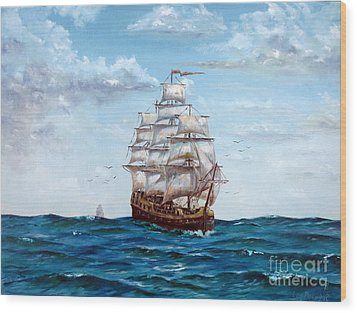 Atlantic Crossing  Wood Print by Lee Piper