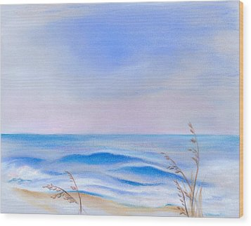 Atlantic Evening Wood Print by MM Anderson