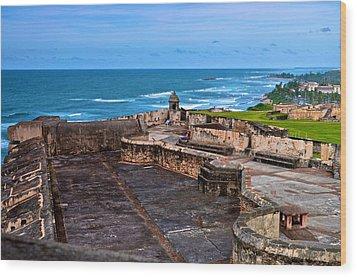 Wood Print featuring the photograph Atlantic Ocean From Fort San Cristobal by Ricardo J Ruiz de Porras