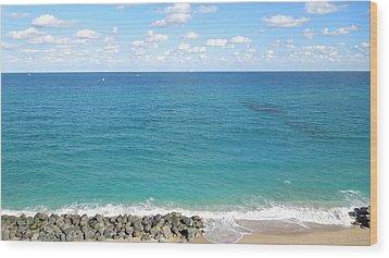 Atlantic Ocean In South Florida Wood Print by Ron Davidson