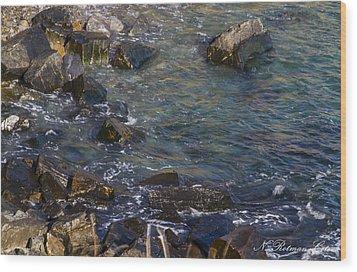 Atlantic Ocean Maine Wood Print