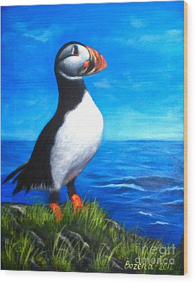 Atlantic Puffin 2 Wood Print