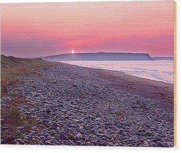 Atlantic Sunrise Wood Print by George Cousins